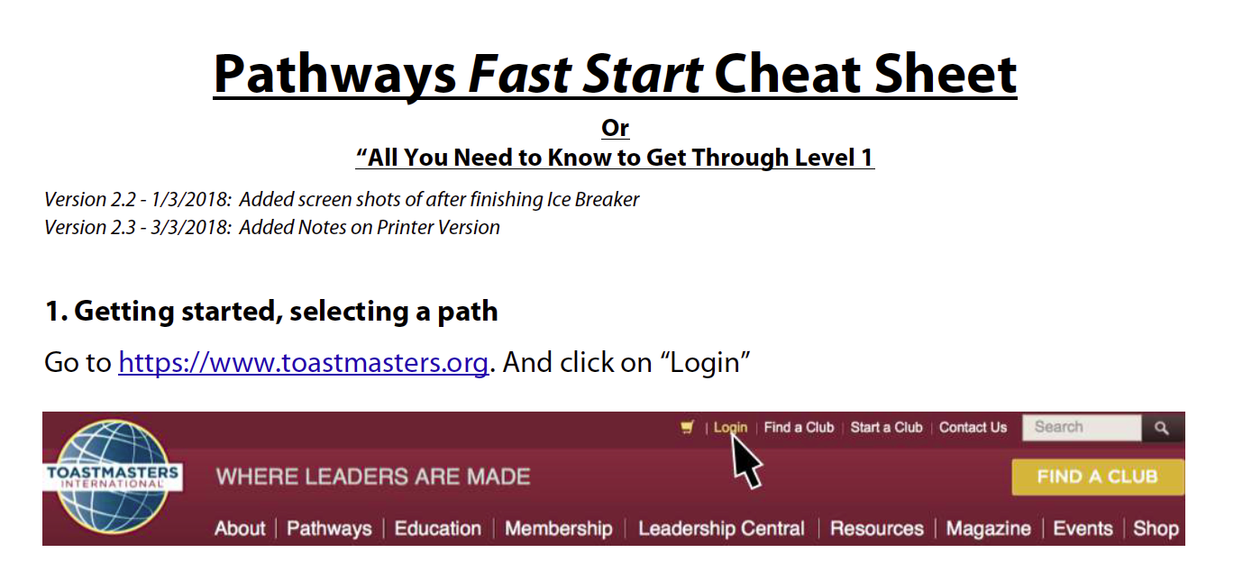Pathways Fast Start Guide